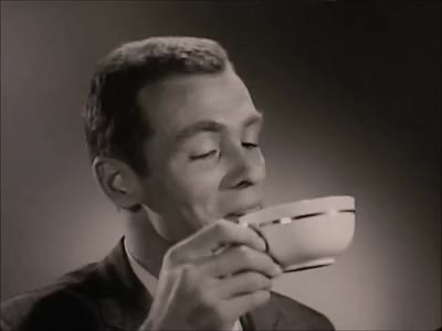 Watch Coffee Time: Via Maxwell House Coffee (1950s) Marc Rodriguez GIF by Marc Rodriguez (@marcrodriguez) on Gfycat. Discover more 1950s, beverage, black and white, break, cafe, coffee, coffee break, coffee time, drink, fresh coffee, good morning, happy, java, joe, marc rodriguez, movie, smile, taste, tv, vintage GIFs on Gfycat