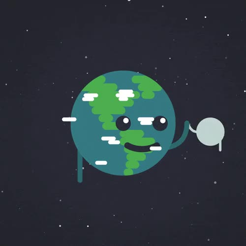 Watch this earth GIF by The GIF Smith (@sannahparker) on Gfycat. Discover more artist on tumblr, earth, earth day, high five, moon, tripleship GIFs on Gfycat