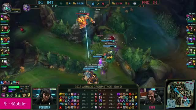 Watch and share IMT Vs FNC Worlds Group Stage Match Highlights 2017 (1) GIFs on Gfycat