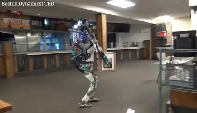 Watch and share Hapless Boston Dynamics Robot In Shelf-stacking Fail GIFs on Gfycat