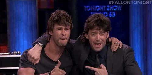 Watch and share Chris Hemsworth GIFs and Bobby Moynihan GIFs on Gfycat