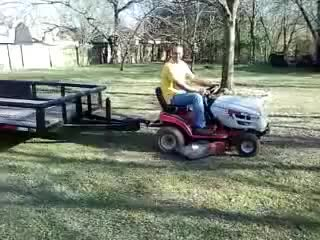 Watch and share Mental Person On Lawn Mower GIFs on Gfycat