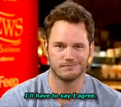 agree, chris pratt, totally, totes, Come hang out with us in an ian chat room! GIFs