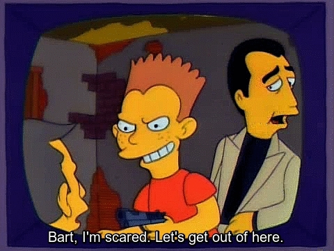 thesimpsons, Blood on the Blackboard: The Bart Simpson Story: Starring Richard Chamberlain as Principal Skinner, Joe Mantegna as Fat Tony, Jane Seymour as the woman he loved and TV's Doogie Howser, Neil Patrick Harris as Bart Simpson (reddit) GIFs