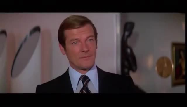 Watch and share Roger Moore's Best Line As Bond (Moonraker) GIFs on Gfycat