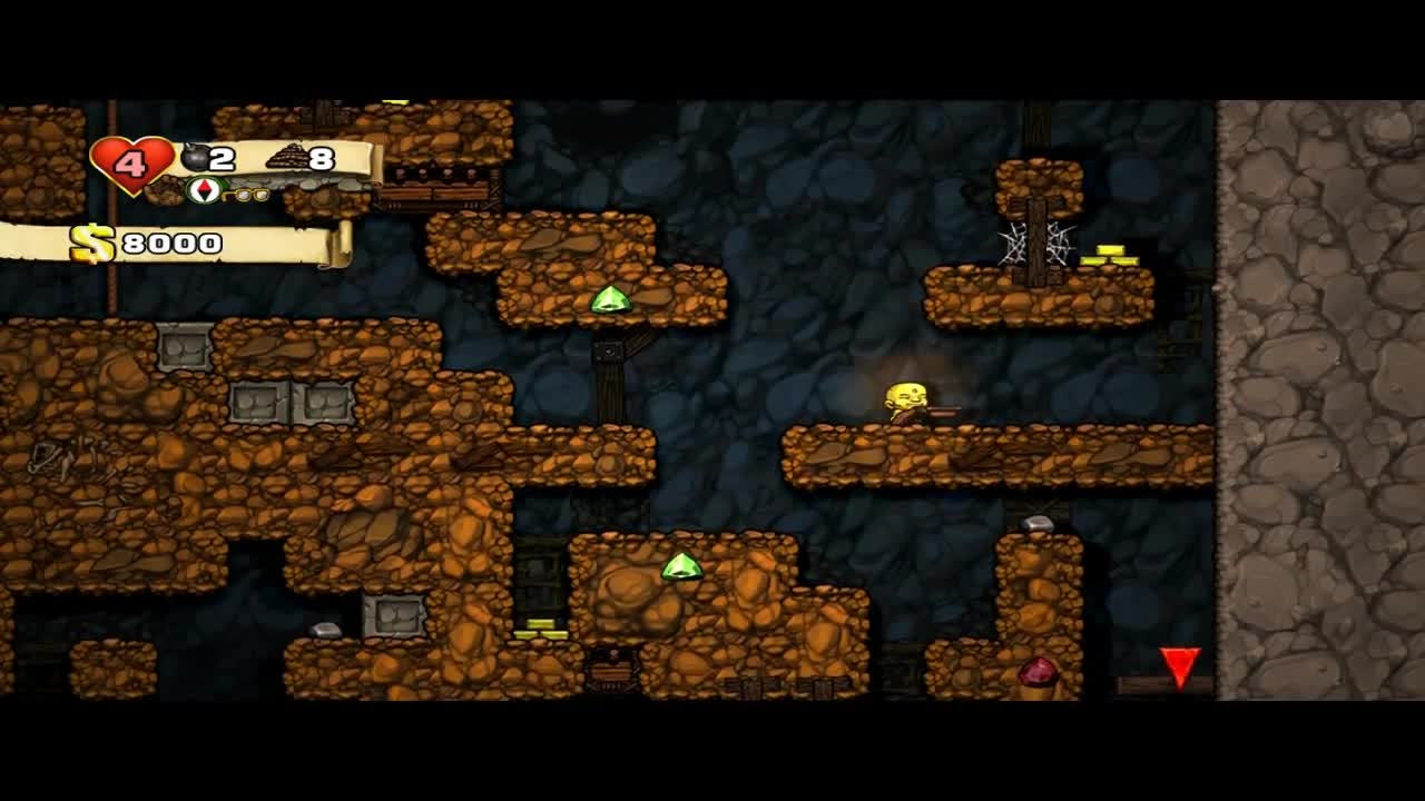 Shotgun, Spelunky (Video Game), Video Game (Industry), Spelunky - The shotgun jump GIFs