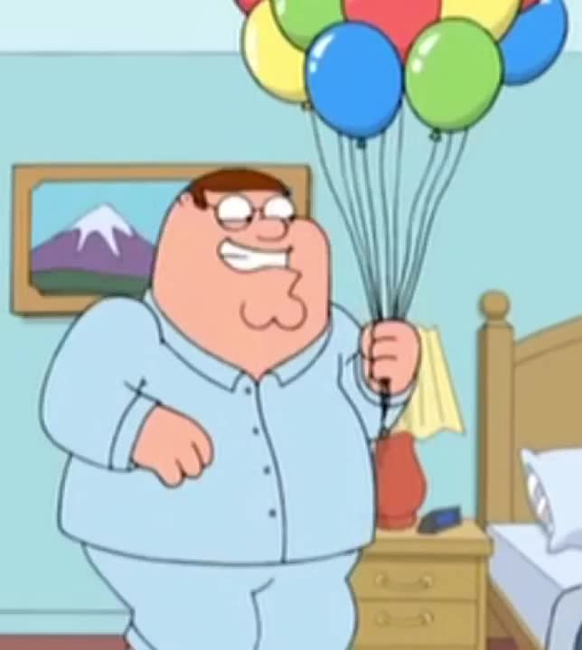 awesome, ballon, balloon, balloons, birthday, celebrate, excited, family, family guy, funny, great, griffin, guy, happy, impatient, party, peter, special, Excited Peter GIFs