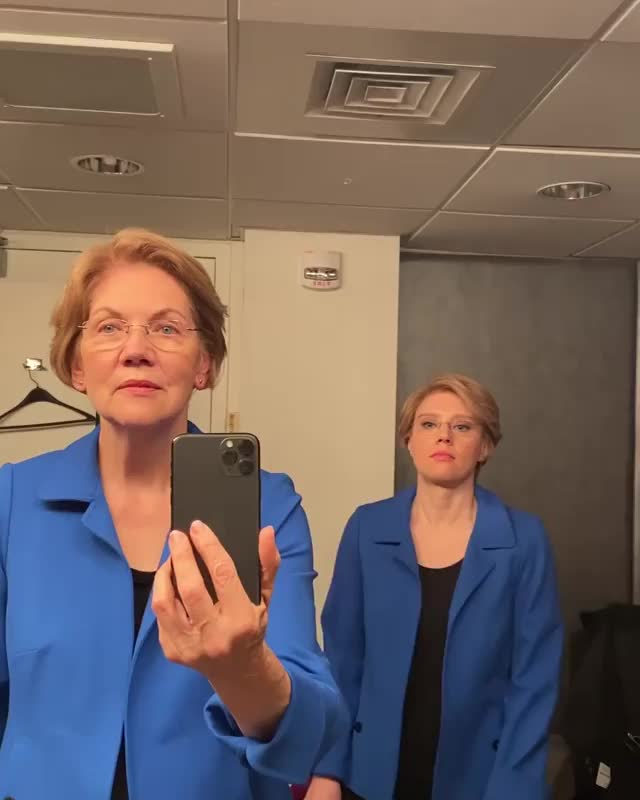 Watch and share Elizabeth Warren GIFs and Kate Mckinnon GIFs on Gfycat