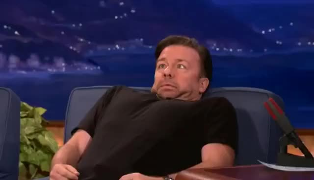 Watch and share Ricky Gervais GIFs and Conan GIFs on Gfycat