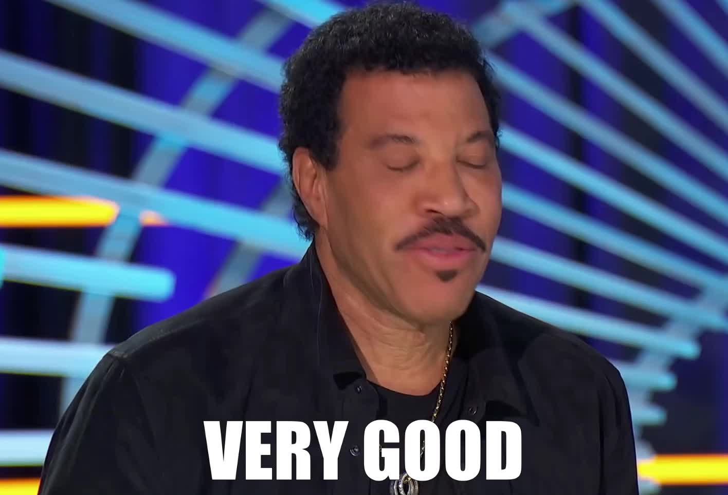american, approve, bravo, congratulations, did, done, good, idol, it, lionel, made, message, of, proud, richie, speechless, very, well, you, you're, Lionel Richie is Speechless - American Idol 2019 GIFs