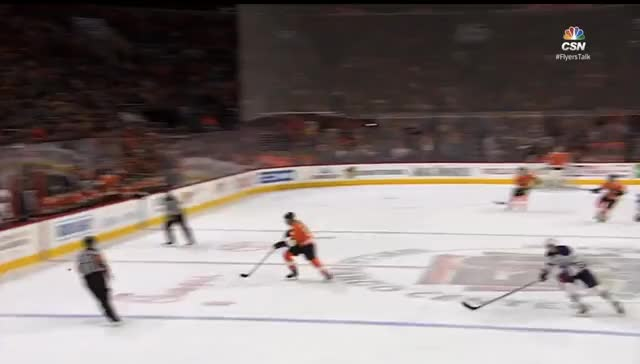 Watch and share Klefbom Gets Beat Wide Vs Flyers GIFs by cultofhockey on Gfycat