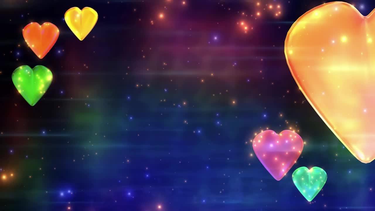 colorful hearts, hearts, love,  GIFs