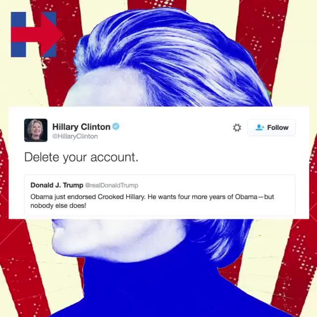 Watch and share HA! @hillaryclinton Gotteem #HillaryClinton #DonaldTrump #Hillary2016 #GOTTEEM GIFs by mrpunk2u on Gfycat