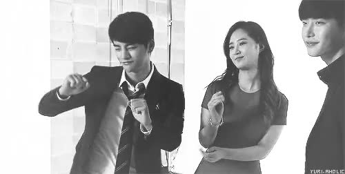 black and white, cute yuri, lee jong suk GIF | Find, Make