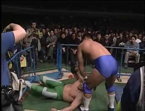 Watch and share Jun Akiyama Vs Mitsuharu Misawa (February 27, 2000) GIFs on Gfycat