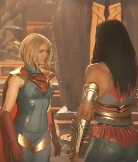 Watch and share Injustice-2-Supergirl-Argue GIFs on Gfycat