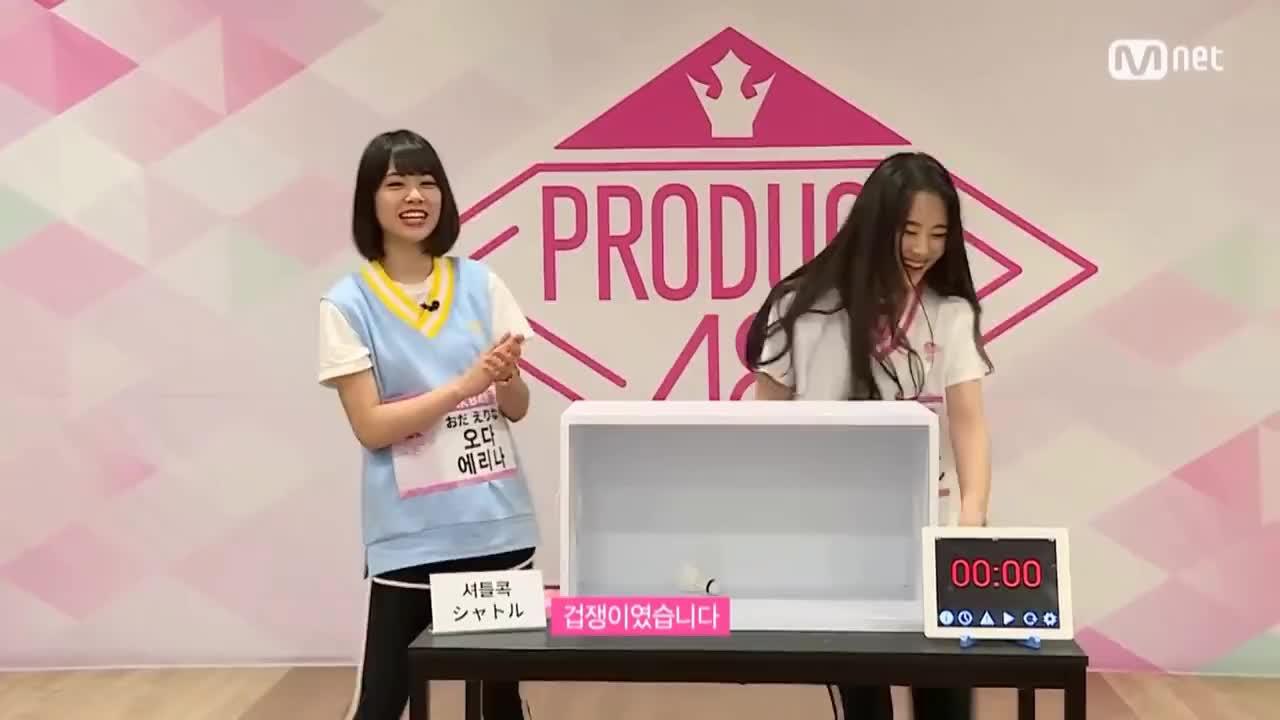 101, 48, All Tags, Odaerina, akb, akb48, choyeong, gif, mnet, produce, produce101, produce48, Produce48 Oda Erina and Cho Yeong GIFs
