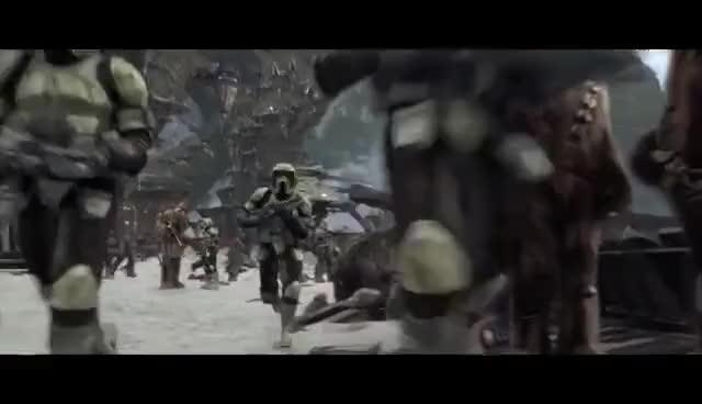 Battle Of Kashyyyk Revenge Of The Sith 1080p Hd Gif Gfycat