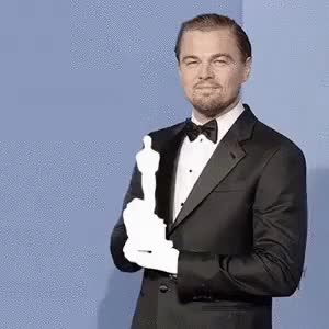 Watch and share Leonardo Dicaprio GIFs and Oscar GIFs on Gfycat