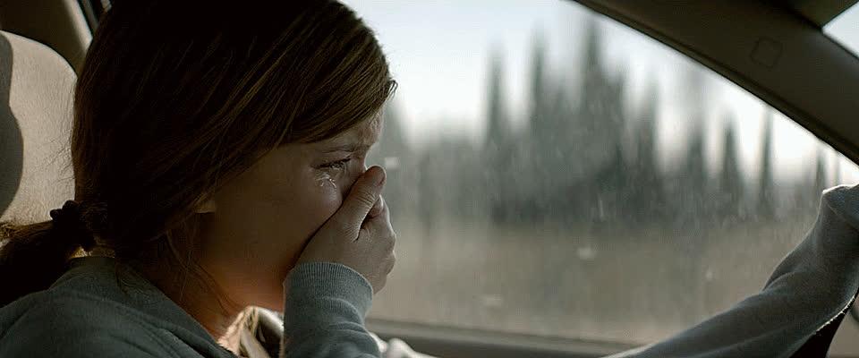 cry, crying, drive, driving, feels, heartbroken, kate mara, megan leavey, moviegfys, reactiongif, regret, sad, sob, sobbing, tears,  GIFs