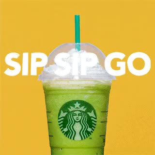 Watch and share Starbucks, Coffee, Frappuccino, Sip Sip Go GIFs on Gfycat