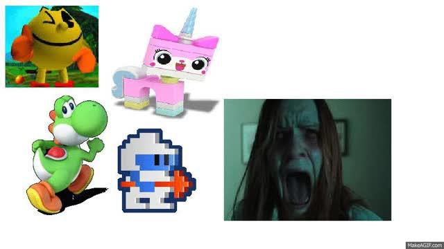 Watch and share Dig Dug Unikitty Pacman Yoshi Vs Screamer GIFs on Gfycat