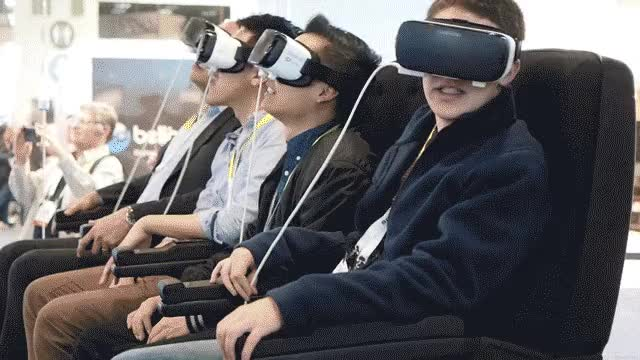 Watch and share VR Headset Experience For Riding The Bus GIFs on Gfycat