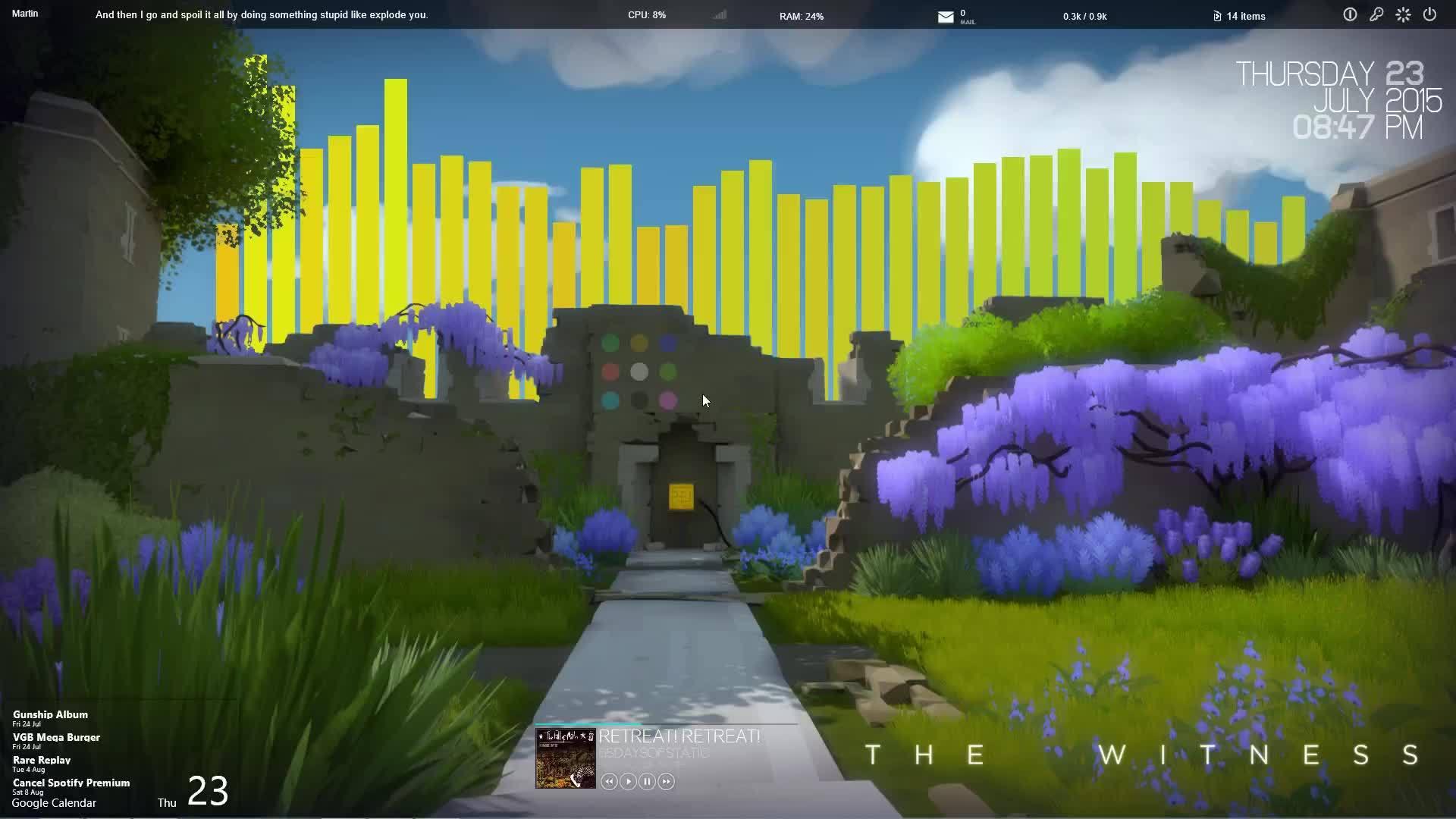 TheWitness, rainmeter, Rainmeter - The Witness Basic GIFs