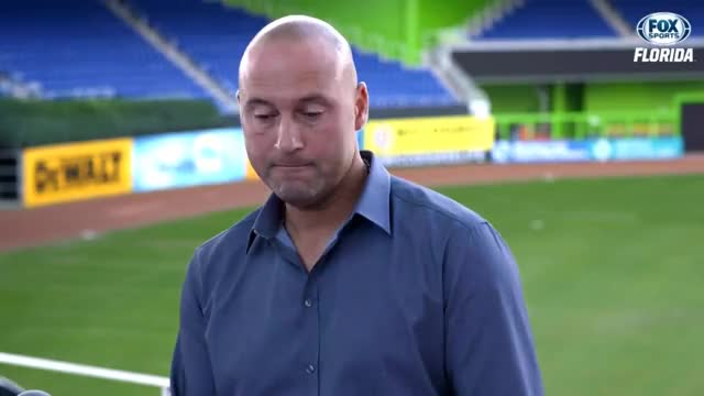 Watch and share Derek Jeter GIFs and Marlins GIFs by Ely Sussman on Gfycat