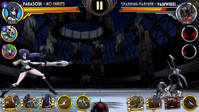 Watch and share Skullgirls Mobile - Parasoul Training 1 GIFs by moisterrific on Gfycat