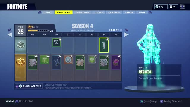 Fortnite Season 4 All The Battle Pass Skins Emotes Harvesting