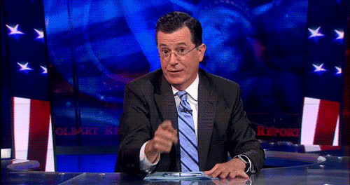 high five, national high five day, stephen colbert, Stephen Colbert High Five GIFs