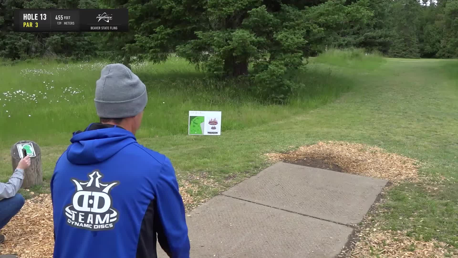 ace, bsf, dela, delaveaga, dgpt, dgwt, disc, disc golf, frolf, hole in one, masters cup, mcbeast, milo, nate sexton, nt, paul mcbeth, pdga, simon lizotte, tournament, worlds, 2019 Beaver State Fling - Round 2 Part 2 - AJ Risley hole 13 drive GIFs