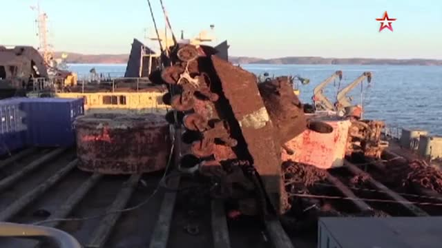 Watch and share M4 Sherman Being Raised From The Bottom Of The Barents  Sea GIFs by st_Paulus on Gfycat