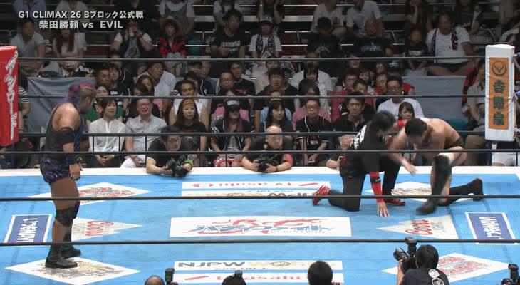 squaredcircle, [NJPW G1 SPOILERS] Katsuyori Shibata vs. EVIL GIFs