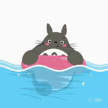 Watch and share Swim Totoro GIFs on Gfycat