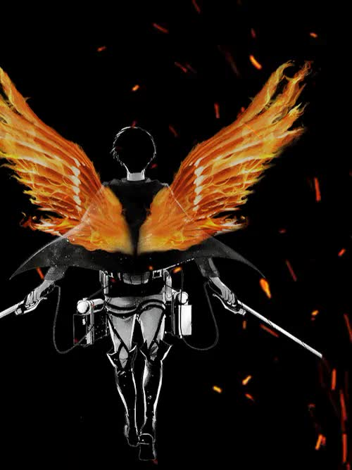 Watch Fire GIF on Gfycat. Discover more animated, anime, art, attack on titan, drawing, gif, levi ackerman, manga, snk, survey corps, wings of freedom GIFs on Gfycat