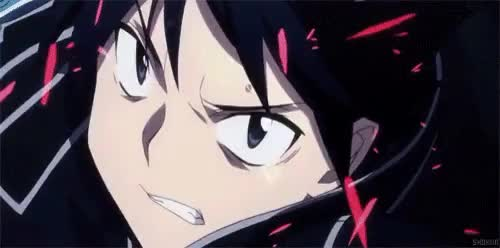 Watch this GIF on Gfycat. Discover more Kirigaya Kazuto, Kirirto, Sword Art Online, gif, mysao, sao GIFs on Gfycat