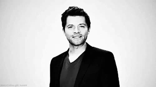 Watch and share Misha Collins GIFs and Hes So Cute GIFs on Gfycat