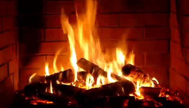 Watch and share Fireplace - Romantic - Full HD And 4K - 2 Hours Crackling Logs Valentine's Day - Love GIFs on Gfycat