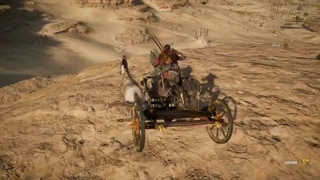 Watch [Assassin's Creed: Origins] TIL Chariots aren't bikes GIF by Kaedal (@kaedal) on Gfycat. Discover more Assassin's Creed: Origins, Chariot, Funny, Physics GIFs on Gfycat