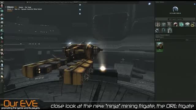 EVE Online - The ORE Frigate, Beginner Mining Ship GIF | Find, Make