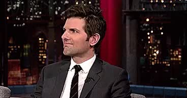 Watch and share David Letterman GIFs and Adam Scott Gif GIFs on Gfycat