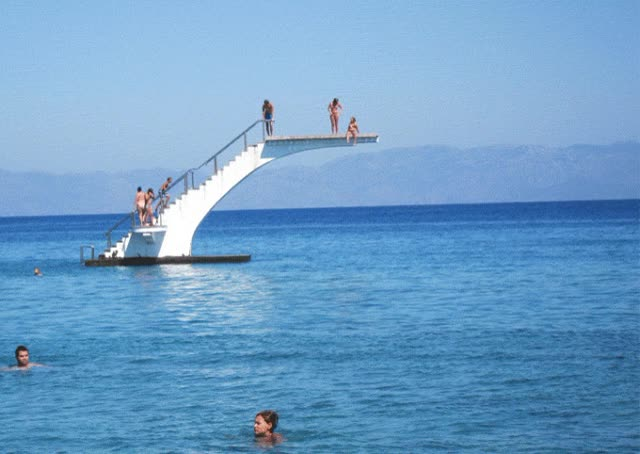 Watch and share The Kraken Is Released Upon Beach Diving Board Fun Time GIFs on Gfycat