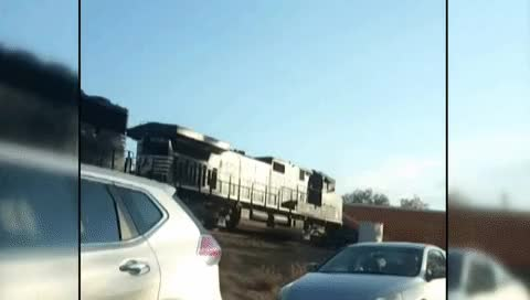 Watch and share Train, Tractor-trailer Collide In Norcross GIFs on Gfycat