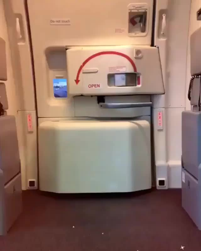 Opening The Plane Door Gif By Tothetenthpower Tothetenthpower