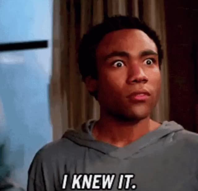 Watch and share Donald Glover GIFs and Told You So GIFs by Reactions on Gfycat