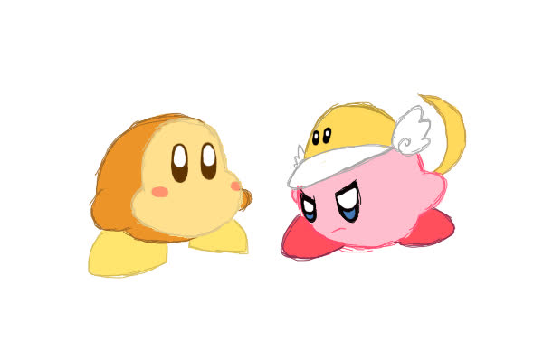 Gif Cutter Kirby Vs Waddle Dee By Cilvia Zie Gif Find Make