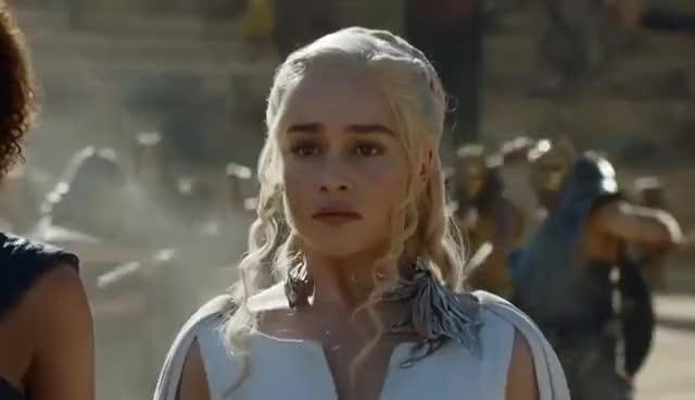Watch Game of Thrones 5x09 - Drogon rescues Daenerys GIF on Gfycat. Discover more Emilia Clarke GIFs on Gfycat