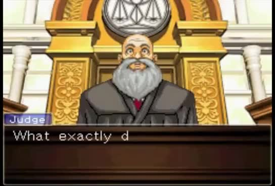 Watch Edgeworth Objection GIF on Gfycat. Discover more related GIFs on Gfycat
